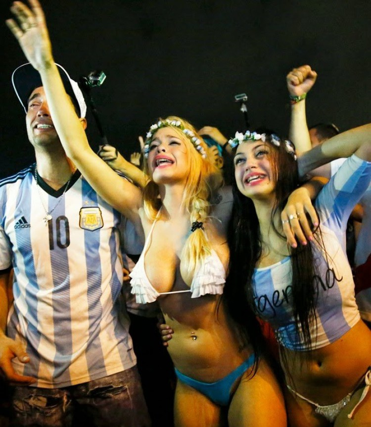 Sexy football fans world cup